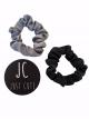 Scrunchie Marit black & Grey