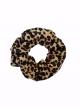 Scrunchie Iris leopard brown