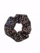 Scrunchie Iris leopard Grey
