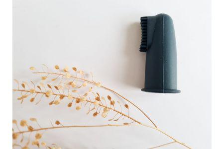 Vingertop tandenborstel dark grey