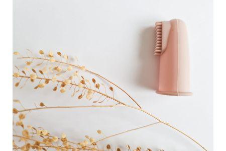 Vingertop tandenborstel blush