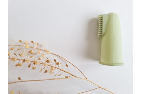 Vingertop tandenborstel mint green