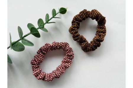 Scrunchie Pink & Chocolat