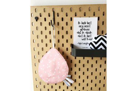 Speendoekje roze triangles