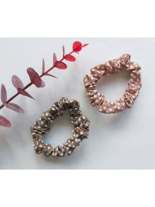 Scrunchie Beige & Pink