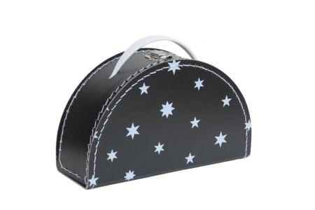Zwart koffertje met witte sterren