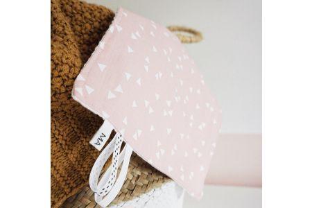 Labeldoekje triangles roze