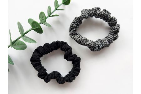 Scrunchie Loua Black & Gray